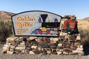 Golden Spike National Historic Site entrance sign