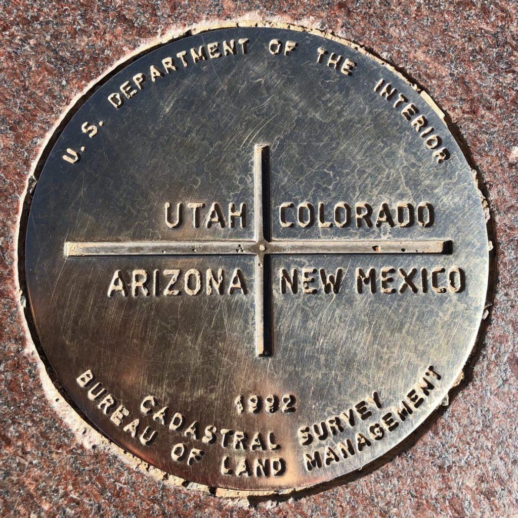 Four Corners Monument disc