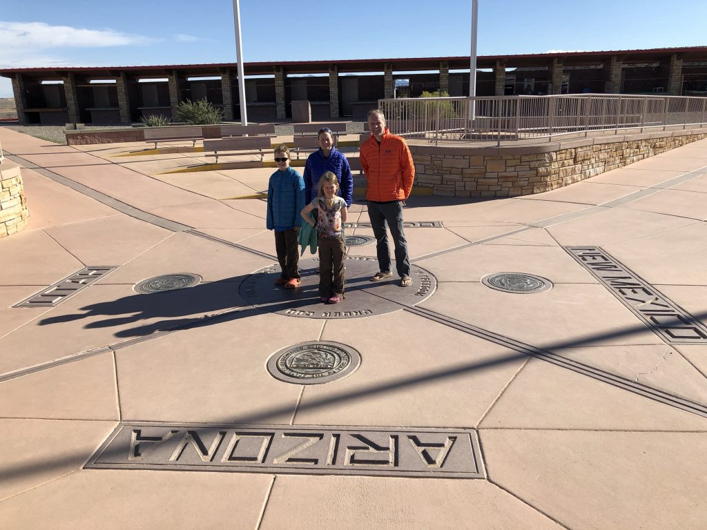 Family at Four Corners Monument