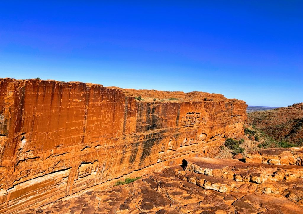 Kings Canyon as seen from the Rim walk.  Kings Canyon is one of the top things to do near Uluru.