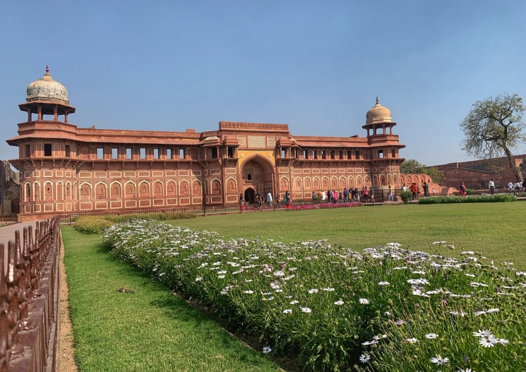 Jahangiri Mahal at Agra Fort. Agra Fort is a recommended stop on a one day visit to Agra.