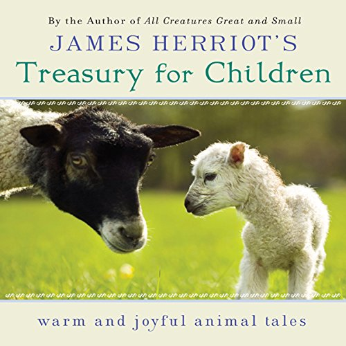 """Audiobook cover art for """"James Herriot's Treasury for Children"""" a best audiobook for family road trips"""
