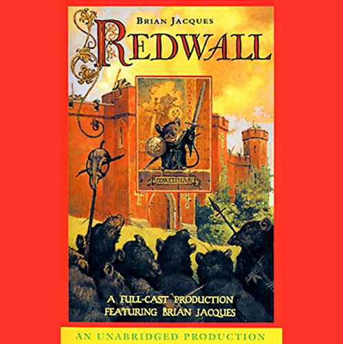 """Audiobook cover art for """"Redwall"""" by Brian Jacques a best audiobook for family road trips"""