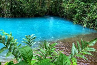The Blue Lagoon at Rio Celeste in Tenorio National Park, Costa Rica